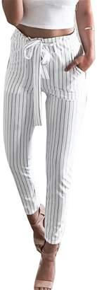 DAY Birger et Mikkelsen Surprising workout-and-training-pants SDay OL Chiffon High Waist Harem Pants Women Bowtie Elastic Waist Trousers Female Stringyselvedge Casual Pants L