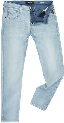 Replay Men's Anbass Blue Stretch Slim Fit Jeans