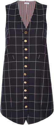 Thom Browne Sleeveless Wool Mini Dress
