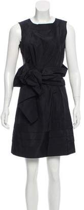 Chloé Knot-Accented Silk Dress