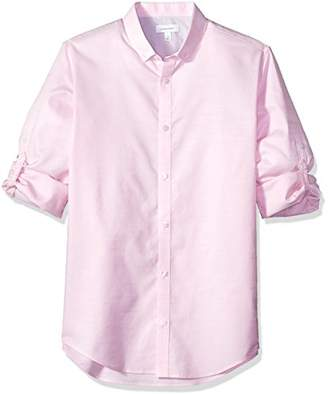 Calvin Klein Men's Infinite Slim Fit Button Down Long Sleeve Dress Shirt Stretch Collar