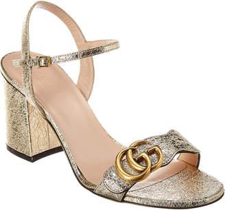 Gucci Metallic Laminate Leather Sandal