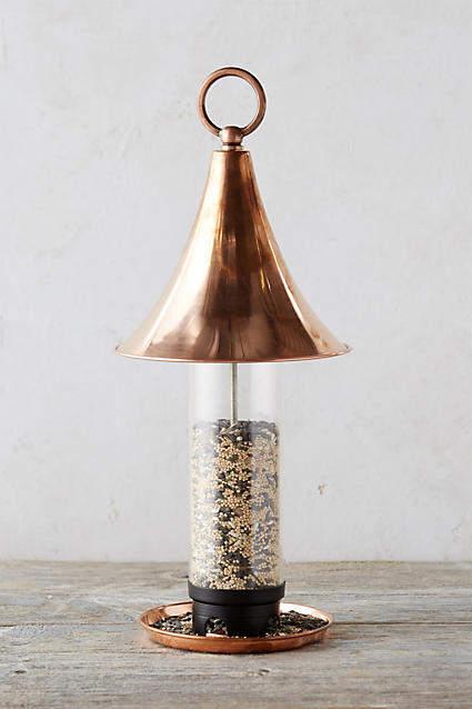 Anthropologie Anthropologie Solid Copper Peak Bird Feeder