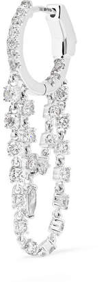 Anita Ko Sophia Huggies 18-karat White Gold Diamond Earring