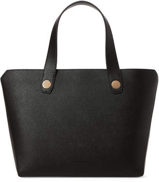 French Connection Black Bobby Faux Leather Tote