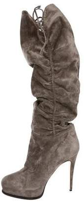 Brian Atwood Suede Knee-High Boots