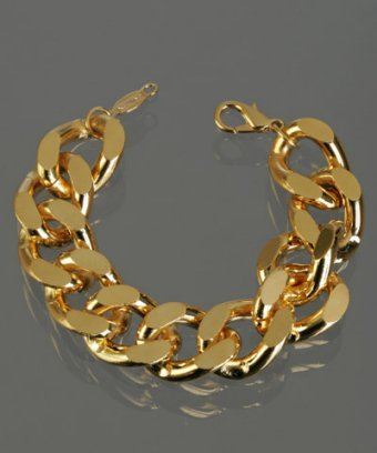 A.V. Max gold twisted chain link bracelet