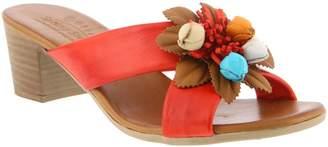 Spring Step Leather Slide Sandals - Bouquet