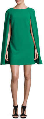 Trina Turk Colette Mini Cape Dress, Black $398 thestylecure.com