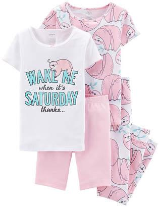 Carter's 4-pc. Pajama Set Preschool / Big Kid Girls