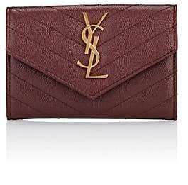 Saint Laurent Women's Monogram Small Leather Wallet - Red