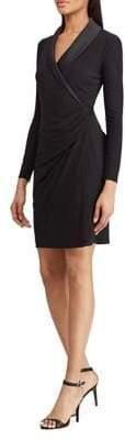 Chaps Surplice Satin Jersey Dress