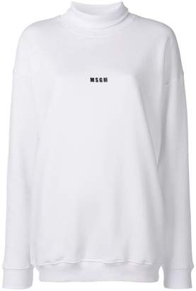 MSGM high neck jersey sweater