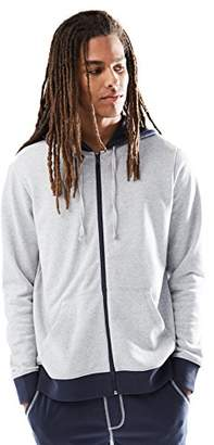 Rebel Canyon Young Men's Zip-Up Hoodie Sweatshirt with Contrast Trim