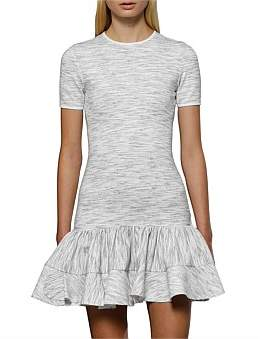 By Johnny Blurred Lines Frill Mini Dress