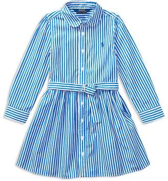 Polo Ralph Lauren Girls' Bengal Stripe Shirtdress - Little Kid