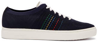 Paul Smith Navy Doyle Knit Sneakers