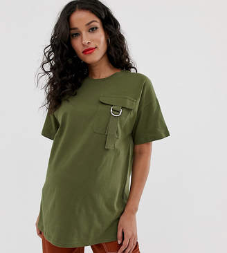 Asos DESIGN Maternity t-shirt with utility pocket