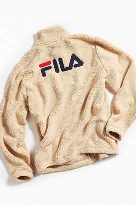 Fila UO Exclusive McMillan Zip-Up Sherpa Sweatshirt Jacket