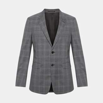 Theory Wool Plaid Chambers Jacket