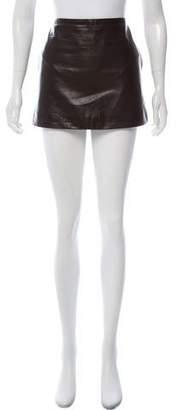Celine Leather Mini Skirt