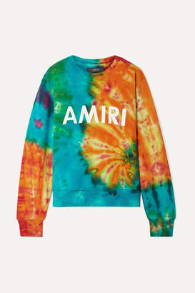 Amiri Printed Tie-dyed Cotton-jersey Sweatshirt - Orange