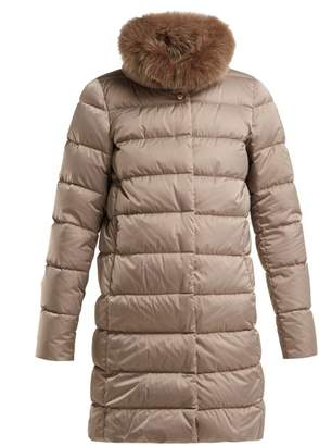Herno Polar Tech Double Layer Quilted Down Coat - Womens - Beige