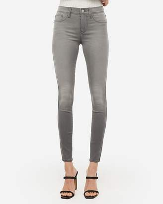 Express Mid Rise Gray Jean Leggings