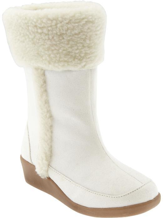 Old Navy Girls Sueded Sherpa-Trim Boots