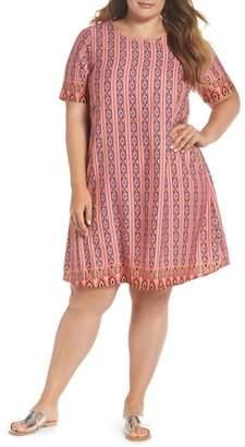 Glamorous Galmorous Border Print T-Shirt Dress