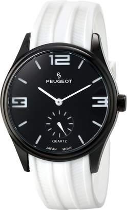Peugeot Men's Matte Black Case Rubber Sports Watch 2042WWT
