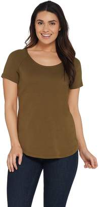 Isaac Mizrahi Live! Essentials Short Raglan Sleeve T-Shirt
