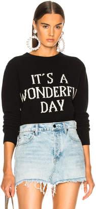 Alberta Ferretti It's A Wonderful Day Crewneck Sweater