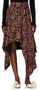 Proenza Schouler Women's Paisley Georgette Asymmetric Skirt - Black