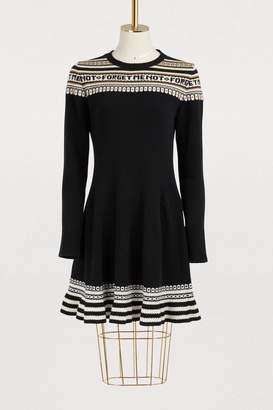 RED Valentino Norwegian jacquard knit dress