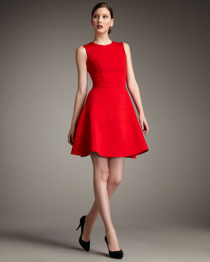 Neiman Marcus Swingy Ponte Dress