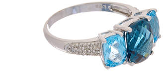 Effy Fine Jewelry 14K 4.67 Ct. Tw. Diamond & Topaz Ring