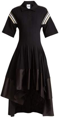 KOCHÉ Pleated short-sleeve midi-dress