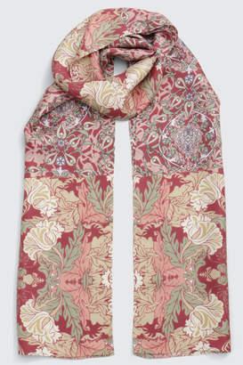BPQC (ビーピーキューシー) - ビー ピー キュー シー シルクツイルプチロング 花柄シルクスカーフ