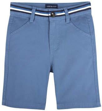 Andy & Evan Cotton-Stretch Mock Belt Shorts, Size 3-24 Months