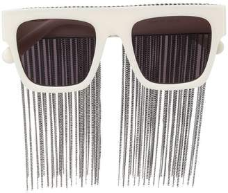 Stella McCartney Eyewear Falabella chain fringe sunglasses