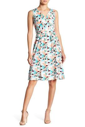 Donna Morgan Sleeveless Mock Wrap Dress