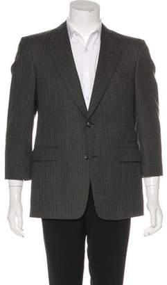 Burberry Learbury Striped Wool Blazer