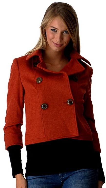 Millard Fillmore Cropped Pea Coat