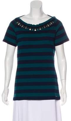 Burberry Stripe Short Sleeve Top