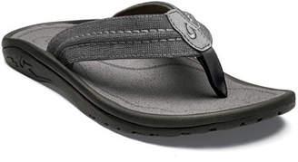 2e13a978a31 OluKai Men s Hokua Mesh Faux-Leather Flip-Flop Sandals