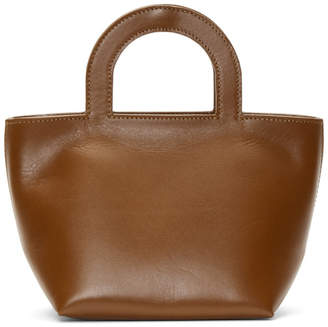 Building Block Brown Tiny Stencil Duffle Bag