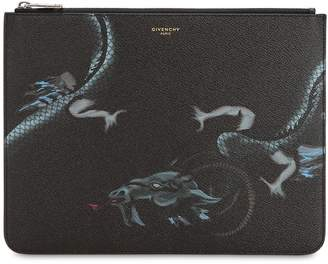 Givenchy Capricorn Print Coated Canvas Pouch