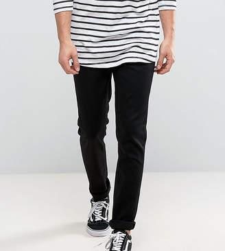 Nudie Jeans Lean Dean slim tapered fit jeans in dry cold black