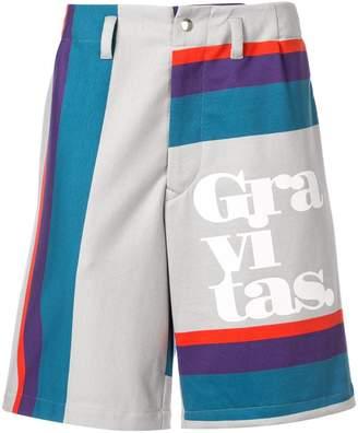 Kolor striped Bermuda shorts